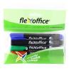 """FLEXOFFICE Alkohos marker, 1,5 mm, kúpos, FLEXOFFICE """"PM03"""", 4 különböző szín"""