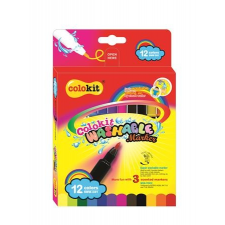 """FLEXOFFICE Filctoll készlet, kimosható, FLEXOFFICE """"Colokit"""" 12 különböző készlet filctoll, marker"""