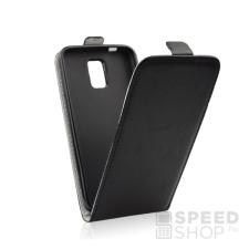 Flip szilikon belső Flip tok szilikon belsővel, Samsung G955 Galaxy S8+, fekete tok és táska