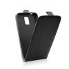 Flip szilikon belső Flip tok szilikon belsővel, Samsung J500 Galaxy J5, fekete