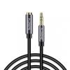 Floveme jack 3.5mm hosszabíttó kábel - 2m - fekete
