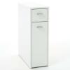 FMD fehér fiókos szekrény 2 fiókkal 20 x 45 x 61 cm