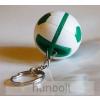 Focilabda kulcstartó- zöld-fehér
