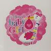 Fólia nagy lufi babaszületésre Gólya pink