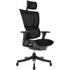 """. Főnöki szék, állítható karfával, feszített hálós háttámla, fekete lábkereszt """"Mirus"""", fekete"""