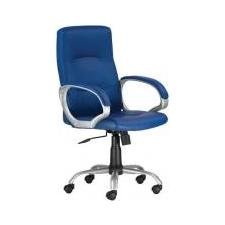 """. Főnöki szék, műbőrborítás, ezüst színű lábkereszt, """"Pittsburg"""", kék forgószék"""