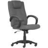 Főnöki szék, szövetborítás, fekete lábkereszt,  MODUS T , szürke