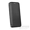 Forcell Elegance oldalra nyíló hátlap tok Samsung J330 Galaxy J3 (2017), fekete