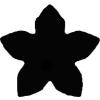 Formalyukasztó 38 mm, Virág, öt szirmú
