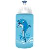 """FREEWATER Kulacs, higiénikus műanyagból, 0,5L,  """"Delfin"""", türkiz"""