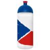 """FREEWATER Kulacs, higiénikus műanyagból, 0,7L,  """"Cseh zászló"""", átlátszó"""
