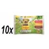 Friskies ADULT Dog multipack kutyaeledel 10x (4x100g) marha/csirke/bárány szószban