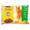 Friskies Multipack macskaeledel marhahússal, csirkével, tonhallal, tőkehallal 4 x 100 g