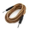 FrontStage 3 x FrontStage 6,35 mm jack kábel, 3 m, mono, textil szövet bevonat, arany-fekete