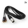 FrontStage Y-kábel, XLR cinchre, 2 darabos készlet, 3 m