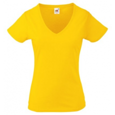 Fruit of the Loom 61-398 LADY FIT Valueweight V-nyakú női póló SUNFLOWER XS-XXL méretek