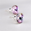 . Fülbevaló, Crystals from SWAROVSKI®, 1 kristályos, ametiszt lila, 8mm