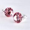 Fülbevaló, Crystals from SWAROVSKI®,  rózsaszín, 8mm