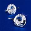 . Fülbevaló,francia kapcsos Crystals from SWAROVSKI®, natúr fehér, 12 mm