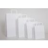 . Füles papírtasak, szalagfüles, fehér, 24x11x33 cm