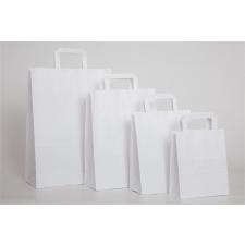. Füles papírtasak, szalagfüles, fehér, 24x11x33 cm papírárú, csomagoló és tárolóeszköz