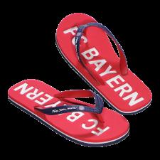 Fürdőpapucs FC Bayern München, piros/kék futball felszerelés