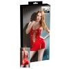 Fűzős lakk miniruha (piros) (M)