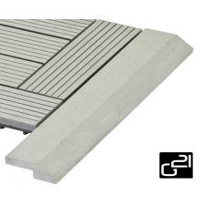 G21 szegélyléc WPC burkolócsempéhez - Incana, 38,5 x 7,5 cm, sarokba élvédő, sín, szegélyelem