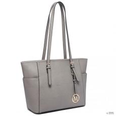 Gant Miss Lulu London LM1642-1 - Miss Lulu szintetikus bőr állítható fogantyú bevásárló táska táska szürke