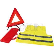 Ganteline Közúti szett: jól láthatósági mellény + elakadásjelzõ háromszög, hordtáskában műanyag autófelszerelés
