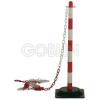 Ganteline Tartóoszlop lánchoz, 90 cm magas, vízzel tölthetõ talppal piros-fehér
