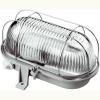 GAO Hajólámpa, ovális, fémrácsos 100W, szürke