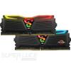 Geil DDR4 16GB 2400MHz GeIL Super Luce Black RGB Sync CL16 KIT2 (GLS416GB2400C16DC)