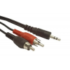 Gembird audio kábel Jack 3.5mm apa / 2x RCA (CINCH) apa  1.5m