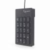 Gembird Billentyűzet GEMBIRD KPD-U-01 (Membrane; USB 2.0; Black)