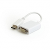 Gembird Displayport v1.2 male to DVI (24+5) female adapter, white