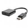 Gembird Displayport v1.2 male to HDMI female adapter, 10cm, black
