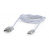 Gembird Double-sided 2-in1 Micro-USB cable + 8-pin data and charging; 1.8m; sil