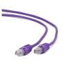 Gembird FTP kat.6 RJ45 patch kábel  0.25m  ibolya