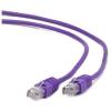 Gembird FTP kat.6 RJ45 patch kábel, 5m, ibolya