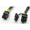 Gembird Internal power adapter cable for PCI express; 6 pin to 6+2 pin; 0.8m