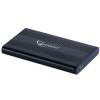 Gembird külső USB 2.0 ház 2.5\'\' SATA HDD-re/SSD  alumínium  fekete
