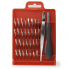Gembird Screwdriver with Precision bit set, 32 pcs