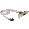 Gembird Serial port DB9 receptacle on low-profile bracket, 40cm flat cable