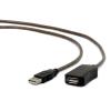 Gembird USB 2.0 aktív hosszabbító kábel, 15m