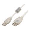 Gembird USB 2.0 extension cable A male->A male,premium quality 3m transparent
