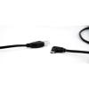 Gembird USB A -> USB 2.0 micro B M/M adatkábel 1.8m fekete 90°jobb