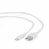 Gembird USB data sync and charging lightning cable; 2m; white