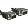 Gembird VGA HD15m/HD15m kettős árnyékolású w/2*ferritmag 20m kábel fekete