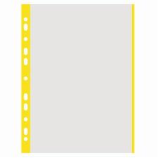 Genotherm, lefűzhető, színes szélű, A4, 40 mikron, narancsos felület, DONAU, sárga 100 db/csomag lefűző